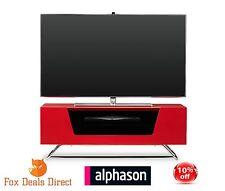 Alphason Chromium 1000 High Gloss Red TV Stand Cabinet & Shelf CRO2-1000CB-RED