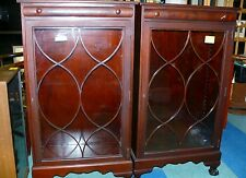 Pr Antique Art Deco Lawyer Bookcases w/Shelves Glass Doors Free Local Delivery
