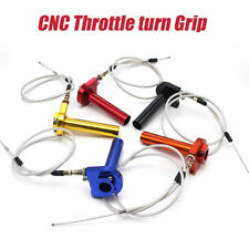 "7/8"" Motorcycle Accelerator Throttle Twist Grip Handlebar + 22mm Aluminum BLACK"