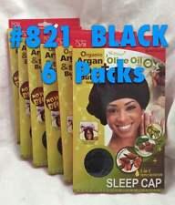 LOT OF 6 PACKS OF QFITT 3 IN 1 TRIPLE NUTRITION SLEEP CAP BLACK #821