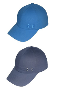 Lot 2 Under Armour Women's UA Armour Washed Cap 1285293 Cotton Baseball Hat OSFM