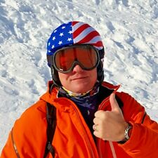 USA FLAG ski and cycling helmet cover, multisport accessory, couvre casque ski