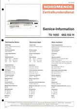 Nordmende Original Service Manual für TU 1650   982.152H
