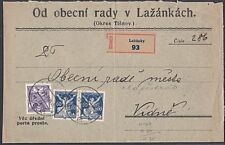 CZECHOSLOVAKIA 1921 cover registered ex LAZANKY............................53835