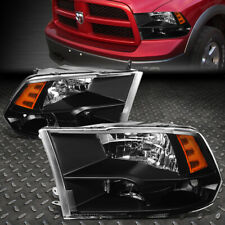 FOR 09-18 RAM 1500 2500 3500 BLACK HOUSING AMBER CORNER HEADLIGHT HEAD LAMPS