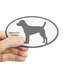 CafePress Patterdale Terrier Silhouette Oval Sticker Sticker (Oval) (399877697)