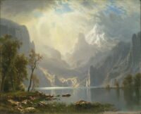 Albert Bierstadt In The Sierras Giclee Art Paper Print Poster Reproduction