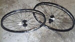 "Halo COMBAT Disc Wheels Wheelset (PAIR) 8 9 10s (BLACK) 26"" Mountain Bike NEW"