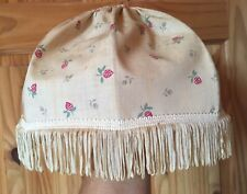 Vintage Cream with pretty Strawberry Pattern Lampshade with Tassels