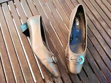 ARA elegante Leder Business Pumps Ballerinas Luftpolster Gold Schnalle Gr. 7 40