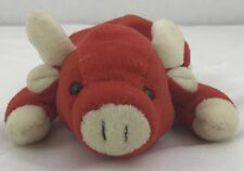 Ty Beanie Babies Red Snort 1995 Retired Pvc & Poly Fill