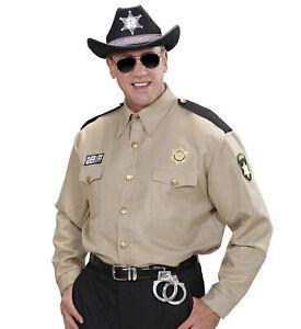 Sheriff-Hemd für Herren Kostüm Police Cop Polizei Polizist Ranger Uniform USA