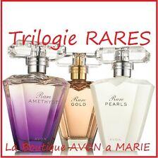 Trilogie de Parfum RARE GOLD , PEARLS et AMETHYSTE de chez AVON neuf