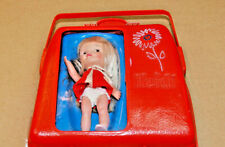 Vintage Remco Heidi Plastic Red Pocketbook Miniature Toy Doll Case Purse 60's
