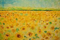 COCO TRABICHET Impressionist Floral Fields Flower Garden Landscape Oil Painting
