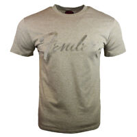 Fender Men's Vintage Retro Music Embroidered Script Graphic T-Shirt, Brown