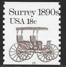 U.S. Scott #1907  18c Surrey Plate #15 Single MNH OG FINE Cat. $11.00