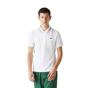 Lacoste Mens Sport Tipped Polo Shirt (White)
