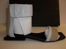 Calvin Klein Collection Sze 10 M Urma Bis Painted Linen Sandals New Womens Shoes