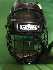 Vintage Black Ccm Hockey Helmet Youth With Bauer Face Cage