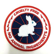 Vegan iron on patch Canada Goose protest cruelty free animal rights on your coat