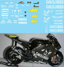 1/12 VALENTINO ROSSI TEST BIKE YAMAHA M1 2005 GAULOISES DECALS TB DECAL TBD86