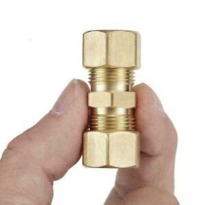"Brass Compression Fitting Straight Union Connector OD UK D2V2 *3/16""OD Hot"