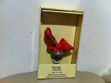New Mango Moon Wine Bottle stopper -Red Shoe Shaped
