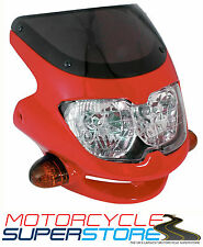 UNIVERSAL MOTORCYCLE MOTORBIKE (STREETFIGHTER STYLE) FAIRING HEADLIGHT RED
