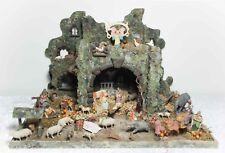Großer Elastolin Krippenstall mit 40 Krippenfiguren Masse um ~1930 Weihnachten