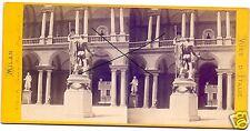 19544/ Stereofoto 9x17,5cm, Milan, Denkmal Napoleon I,  1870