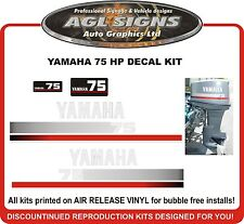 YAMAHA 75 HP Outboard Decal Set reproductions 60 85