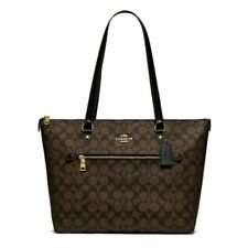 Coach F79609 Gallery Tote Shoulder Bag - Brown/Black