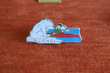 12228 PIN'S PINS TOUR OPERATOR GNGL VOYAGES POLAIRE POLE NORD OURS BEAR CANOE