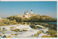 "YORK BEACH MAINE Vintage Postcard THE NUBBLE LIGHTHOUSE  (3x5"") *Free Shipping*"
