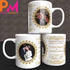 Princess Eugenie Jack Brooksbank Royal Wedding Commemorative Mug Souvenir collec