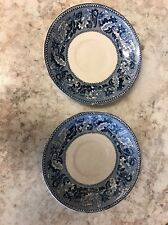 2 Johnson Bros Historic America San Francisco During the Gold Rush blue saucers