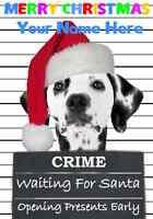 Dalmation Christmas PIDZ117 A5 Xmas Greeting Card Personalised Mum Dad son