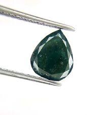 Big 1.26TCW Green Blue Gray Pear Full cut African Antique Loose Natural Diamond