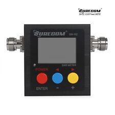 Surecom SW-102 Digital Antenna Power & SWR Meter Radioddity 125-525MHz Tester