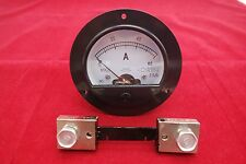 DC 0-60A Round Analog Ammeter Panel AMP Current Meter Dia. 90mm with shunt