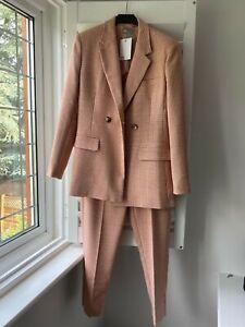 BNWT ASOS Salmon/Cream Checked Suit Size 8