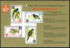 Seychelles 360a S/S, MNH 4th Pan-African Ornithologique Congress. Oiseaux, 1976