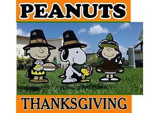 Peanuts Gang Thanksgiving Holiday Yard Lawn Art Decorations