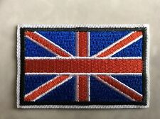 2 IRON ON PATCHES - UNION JACK - FLAG BRITAIN UNITED KINGDOM ENGLAND ARMY NAVY