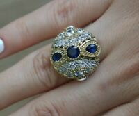 Turkish Handmade Jewelry Sterling Silver 925 Sapphire Ladies Ring 6 7 8 9