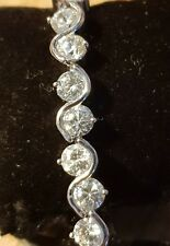Party Crystal Tennis Bracelet Made with Swarovski Elements 7""