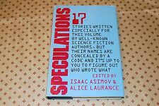 Speculations edited by Isaac Asimov & Alice Laurance (1982 HC) Book Club Edition