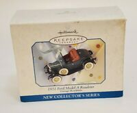 Hallmark Keepsake Ornament 1931 Ford Model A Roadster Die Cast Metal 1998 Vtg