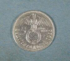 1936-f NAZI GERMANY 5 MARK COIN - SWASTIKA - SILVER